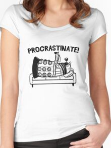 Procrastinate Robot Women's Fitted Scoop T-Shirt