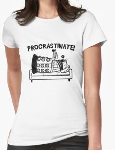 Procrastinate Robot Womens Fitted T-Shirt