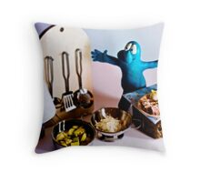Gommolo is in the kitchen Throw Pillow