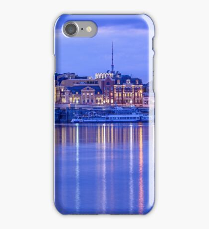 The lights of evening Podol on the Dnieper iPhone Case/Skin