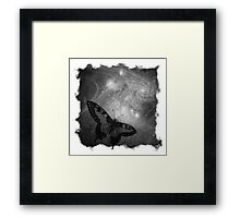 The Atlas of Dreams - Plate 4 (b&w) Framed Print