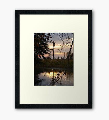 GOLD SPILL Framed Print