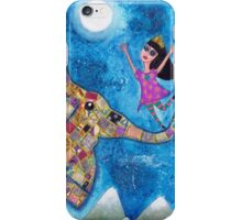 Missy and Elephant fly to the Moon iPhone Case/Skin