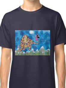 Missy and Elephant fly to the Moon Classic T-Shirt