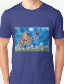 Missy and Elephant fly to the Moon T-Shirt