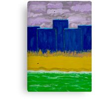 Perfect Blue Buildings Canvas Print