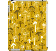 Mushrooms in Yellow iPad Case/Skin