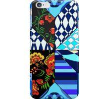 blue patchwork iPhone Case/Skin