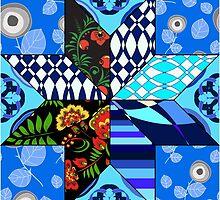 blue patchwork by tsafonova1