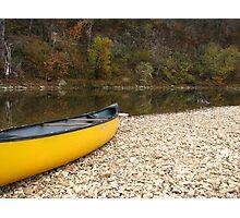Canoe along the Buffalo National River Photographic Print