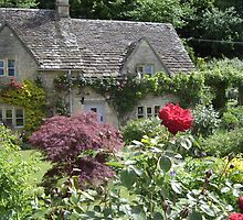 English Rose Cottage by Rimma Tverskoy