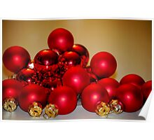 Christmas Baubles Poster
