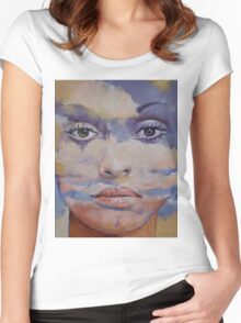 Mona Lisa Women's Fitted Scoop T-Shirt