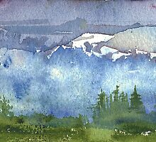 Cascade Mountains by Sally Griffin