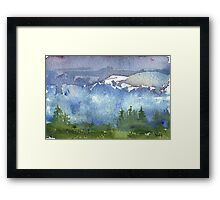 Cascade Mountains Framed Print