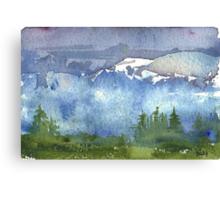 Cascade Mountains Canvas Print