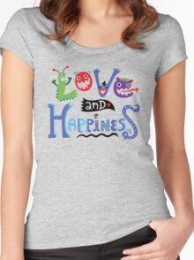 Love & Happiness  - beige Women's Fitted Scoop T-Shirt
