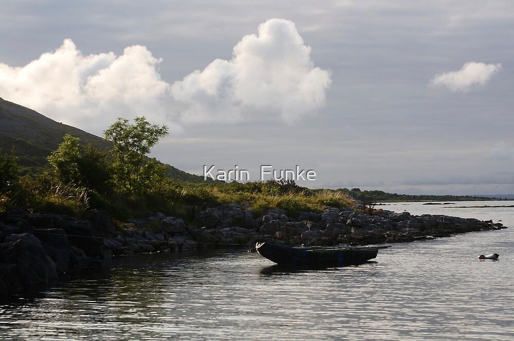 Curragh in the Burren by Karin  Funke