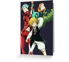 nanatsu no taizai seven deadly sins king anime manga shirt Greeting Card