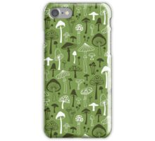 Mushrooms in Green iPhone Case/Skin