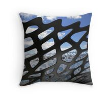 'Fish-bone boat' Throw Pillow