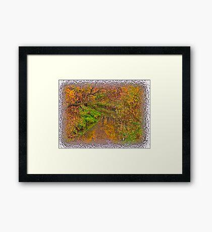""" Soap opera ""   autumn  -  landscape  ( Pastiche - Daub?!?) Perheps !. by  Brown Sugar . Views (61) Thanks !!! Framed Print"