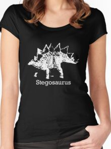 Stegosaurus Graphic Women's Fitted Scoop T-Shirt