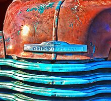 Rusting in Bright Light - Abandoned Chevy Truck by TWindDancer