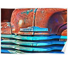Rusting in Bright Light - Abandoned Chevy Truck Poster
