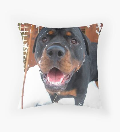 Snowdog. Build Snowdog!!! Throw Pillow