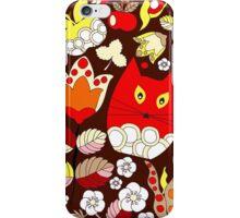 cartoon red cat iPhone Case/Skin