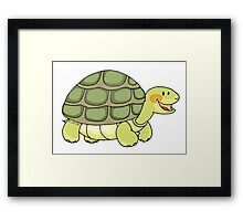 Cute and funny turtle Framed Print