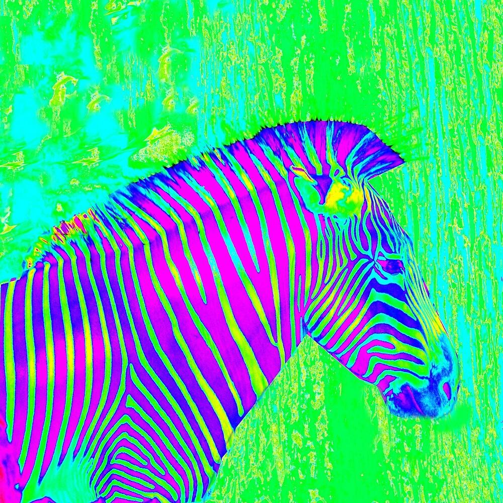neon zebra 2 by jashumbert