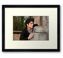 scott crouching Framed Print