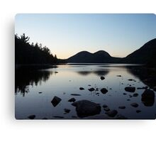 Sunset over the Bubbles and Jordan Pond Canvas Print
