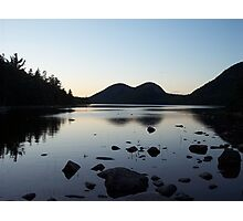 Sunset over the Bubbles and Jordan Pond Photographic Print