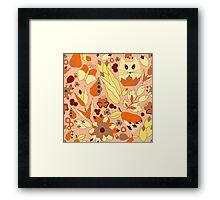 cartoon yellow cat Framed Print