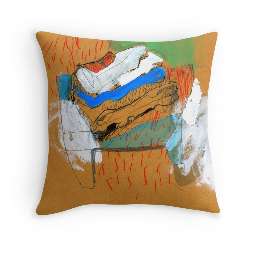 Folded Washing Throw Pillows By Shylie Edwards Redbubble