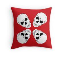 Skull 4 Red Throw Pillow