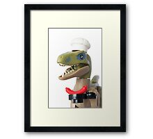 That's why we have to feed them like this Framed Print