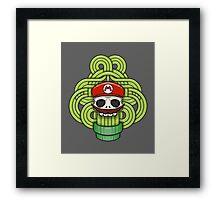 Mario Skull Framed Print