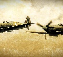 Spitfires On The Hunt by Peter Farrington