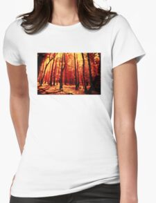 Forest heat Womens Fitted T-Shirt