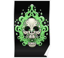 Floating Skull Poster