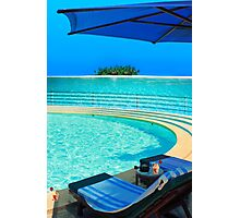 The Maldives - romantic atoll island paradise with luxury resort  Photographic Print