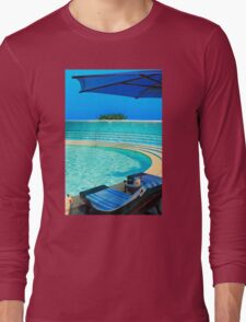 The Maldives - romantic atoll island paradise with luxury resort  Long Sleeve T-Shirt