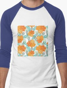 Brush Flower Men's Baseball ¾ T-Shirt