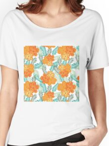 Brush Flower Women's Relaxed Fit T-Shirt