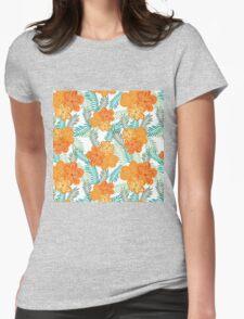Brush Flower Womens Fitted T-Shirt