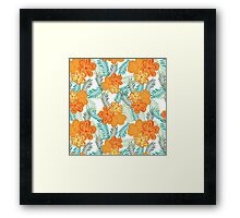 Brush Flower Framed Print